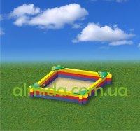 Песочница средняя с бруса